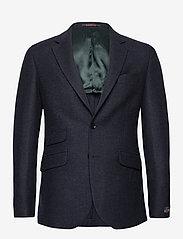Morris - Fishbone Jacket - single breasted blazers - navy - 0