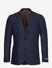 Morris - Sebastian Linen Blazer - single breasted blazers - navy - 0
