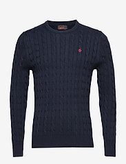 Morris - Pima Cotton Cable - basic knitwear - navy - 0