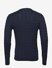 Morris - Pima Cotton Cable - basic knitwear - navy - 1