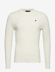 Morris - Pima Cotton Cable - basic knitwear - off white - 0