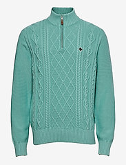 Colton Half Zip Cable - TURQUOISE
