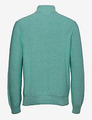 Morris - Colton Half Zip Cable - half zip - turquoise - 1