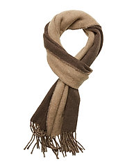 Morris Double Face Scarf - BROWN