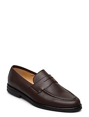 Morris Penny Loafers - BROWN