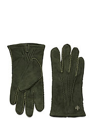 Morris Suede Gloves - OLIVE