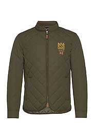 Morris Trenton Quilted Jacket - OLIVE
