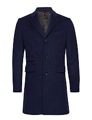 Wesley Wool Coat - 60 NAVY