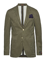 Brighton Washed Cotton Blazer - KHAKI
