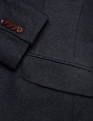 Morris - Structure Jacket - single breasted blazers - navy - 3