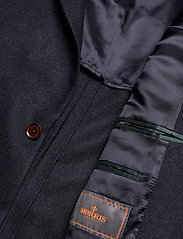 Morris - Structure Jacket - single breasted blazers - navy - 4