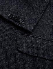 Morris - Fishbone Jacket - single breasted blazers - navy - 3