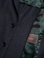Morris - Fishbone Jacket - single breasted blazers - navy - 4