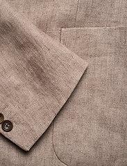 Morris - Sebastian Linen Blazer - single breasted blazers - khaki - 3