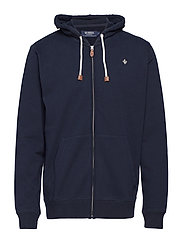 Morris Zip Hood - OLD BLUE