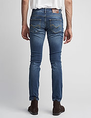 Morris - Steve Satin Jeans - skinny jeans - semi dark wash - 4
