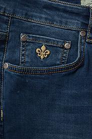 Morris - Steve Satin Jeans - skinny jeans - semi dark wash - 5
