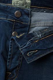 Morris - Steve Satin Jeans - skinny jeans - semi dark wash - 6