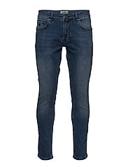 Steve Satin Jeans Zip - BLUE WASH