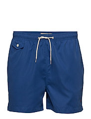 Solid Bathing Trunks - BLUE
