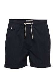 Solid Bathing Trunks - NAVY