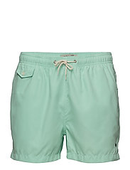 Solid Bathing Trunks - TURQUOISE
