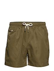 Solid Bathing Trunks - OLIVE