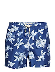 Flower Bathing Trunks - BLUE
