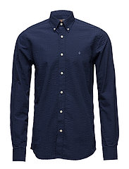 Ewan Button Down Shirt - NAVY