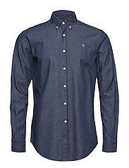 Julian Button Down Denim Shirt - BLUE