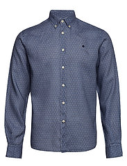 Bligh Button Down Linen Shirt - BLUE