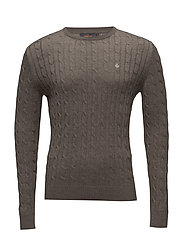 Merino Cable Oneck - BROWN