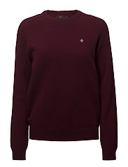 Lambswool Oneck - WINE RED