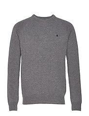 Lambswool Oneck - GREY