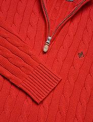 Morris - John Zip Cable - half zip - red - 2