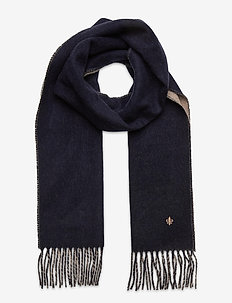 Double Face Scarf - scarves - navy