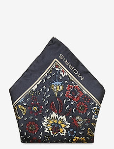 Morris Flower Pocket square - pocket squares - navy