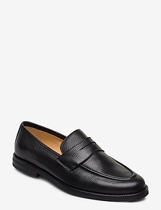 Morris Penny Loafers - loafers - black