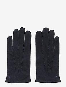 Morris Suede Gloves - BLUE