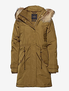 Edith Down Jacket - parka coats - olive