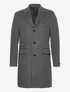 Wesley Wool Cashmere Coat - uldfrakker - grey