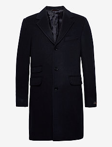 Wesley Wool Cashmere Coat - wollen mantels - navy
