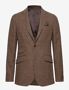 Strafford Dogtooth Blazer - BROWN