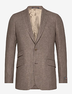 Azour Linen Blazer - brown