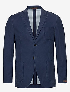 Portofino Washed Cotton Jacket - marynarki - blue