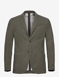 Portofino Washed Cotton Jacket - blazers - green