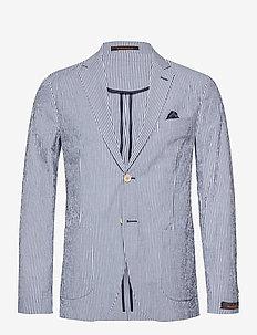 Resort Shirt Blazer - single breasted blazers - navy
