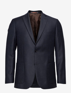 Archie Flannel Suit Blazer - single breasted blazers - navy