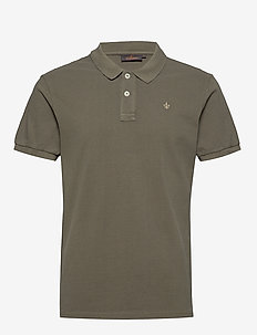 New piqué - short-sleeved polos - olive