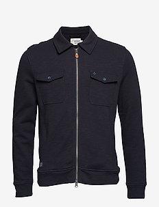 Kerrick Zip Sweatshirt - OLD BLUE
